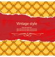 vintage style template vector image