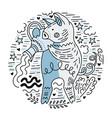 zodiac signes aquarius vector image vector image
