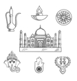 Indian religion and culture symbols vector image