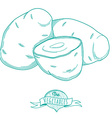Outline hand drawn sketch of potato flat style vector image