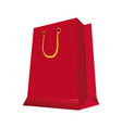 red paper gift bag shopping image vector image