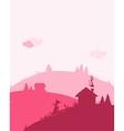 Dawn in village landscape for your design vector image