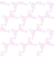 floral seamless background in pink vector image