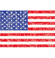 grunge American flag background vector image