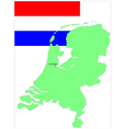 6137 netherland map and flag vector image vector image