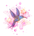 Abstract background with tropical bird vector image vector image