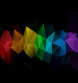 abstract irregular polygon background aura vector image vector image