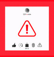 attention icon symbol vector image vector image