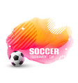 awesome soccer tournament background in memphis vector image