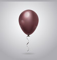balloon with ribbon isolated on grey background vector image vector image