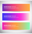 banners or headers with trendy bright gradient vector image vector image