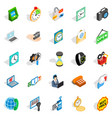 bauble icons set isometric style vector image vector image