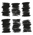 black brush stroke vector image vector image