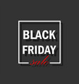 black friday banner or poster white on black vector image vector image