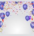 blue balloons confetti concept design template vector image