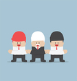businessmen holding hands each other unity and vector image vector image