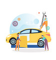 car mechanic and repair shop concept for vector image vector image