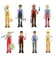 Cartoon Professions Set Isolated vector image vector image