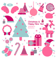 Christmas and happy new year infographic vector image