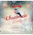 Christmas landscape Poster EPS 10 vector image vector image