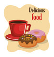 coffee and donuts menu vector image vector image