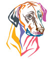 colorful decorative portrait of dog rhodesian vector image vector image