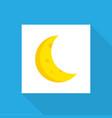 crescent icon flat symbol premium quality vector image