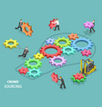 crowdsourcing flat isometric concept vector image vector image