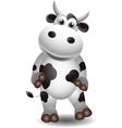 cute cow vector image vector image