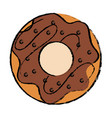 delicious sweet donut icon vector image