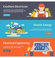 Electricity Banner Set vector image vector image
