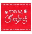 Festive Christmas design vector image