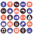 financial flat icons set vector image
