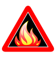 fire sign vector image vector image