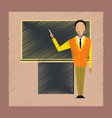 flat shading style icon male teacher vector image