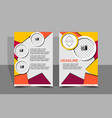 flyer design abstract concept vector image vector image