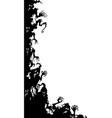ghosts vertical corner vector image vector image