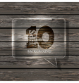 glass bubble speech on wooden background Eps10 vector image vector image