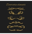 Gold text dividers set Ornamental decorative vector image vector image