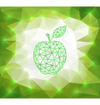 Green triangle apple with background vector image vector image