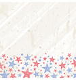 grunge usa background vector image vector image