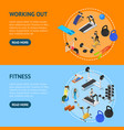 gym with exercise and gymnastic equipment concept vector image vector image