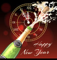 happy new year champagne poster vector image