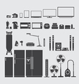 Home appliance silhouette vector image