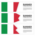 italy flag banners collection independence day vector image vector image