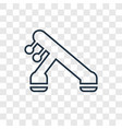 machine concept linear icon isolated on vector image