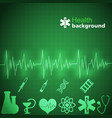 medicine green background vector image vector image