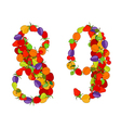 number eight and number nine vector image vector image
