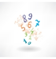 numbers grunge icon vector image