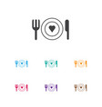 of amour symbol on restaurant vector image